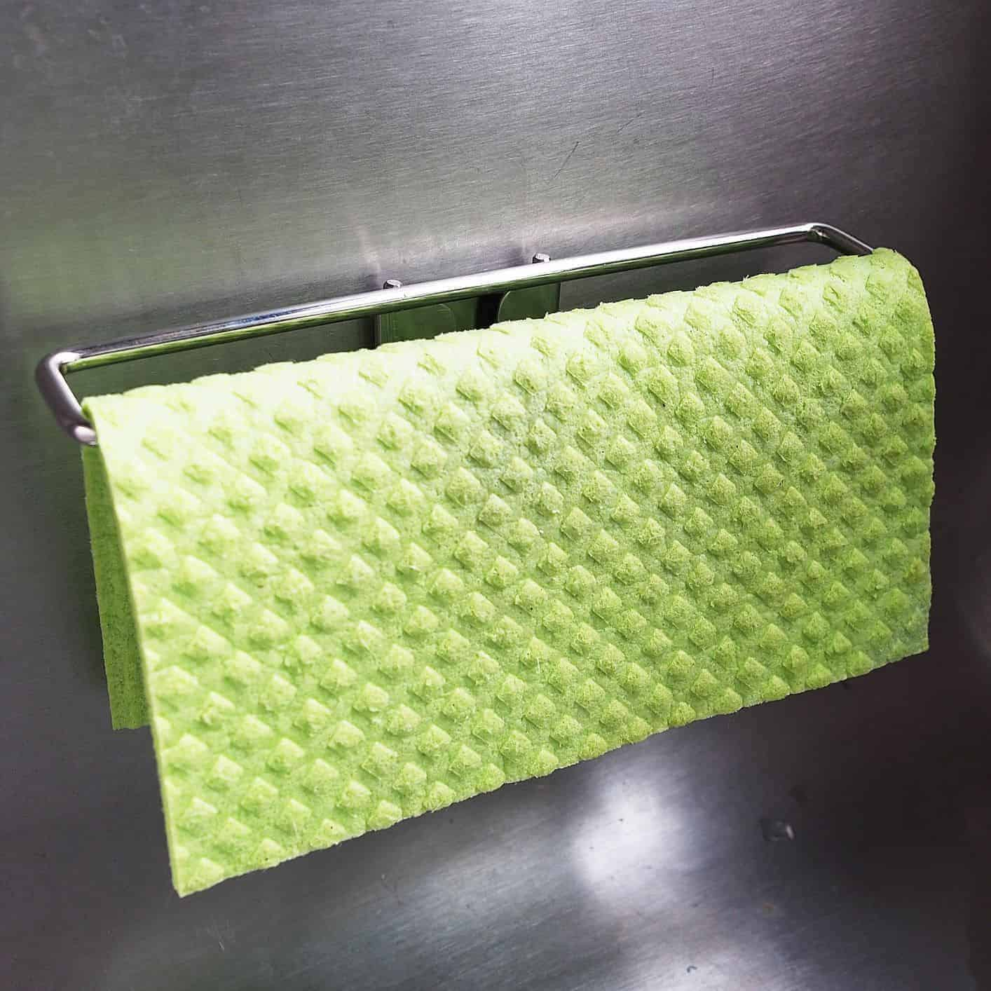 BEST Dish Cloth Holder Caddy for Kitchen Sink | Uses Detachable Adhesive