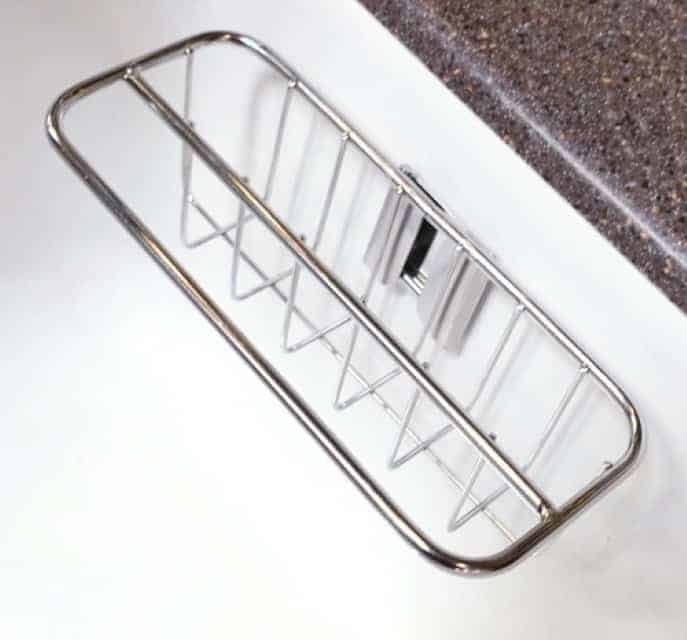 2-in-1 In Sink Sponge Holders and Brush Sink Caddy | Detachable Stainless Steel Strong Adhesive