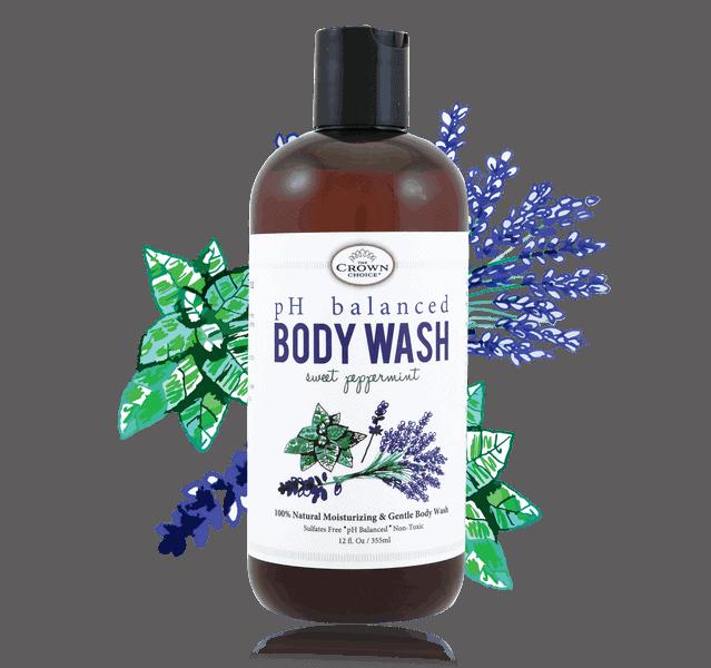 ph balanced soap liquid body wash the crown choice