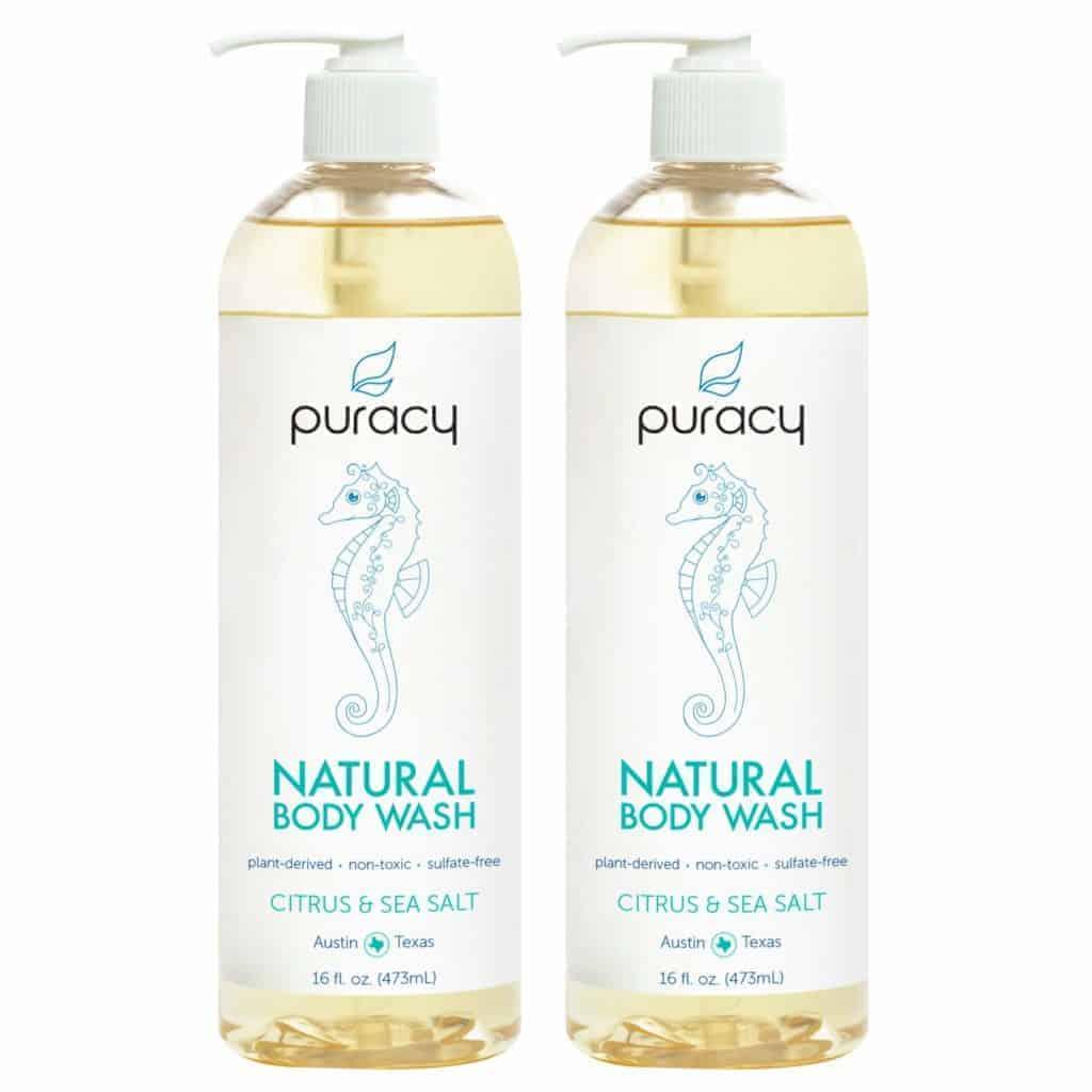 Puracy natural body wash - citrus & sea salt