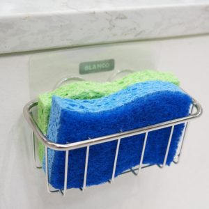 sponge holder kitchen sink with strong adhesive stick for inside sink storage