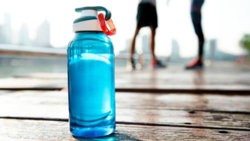 regular blue sports bottle